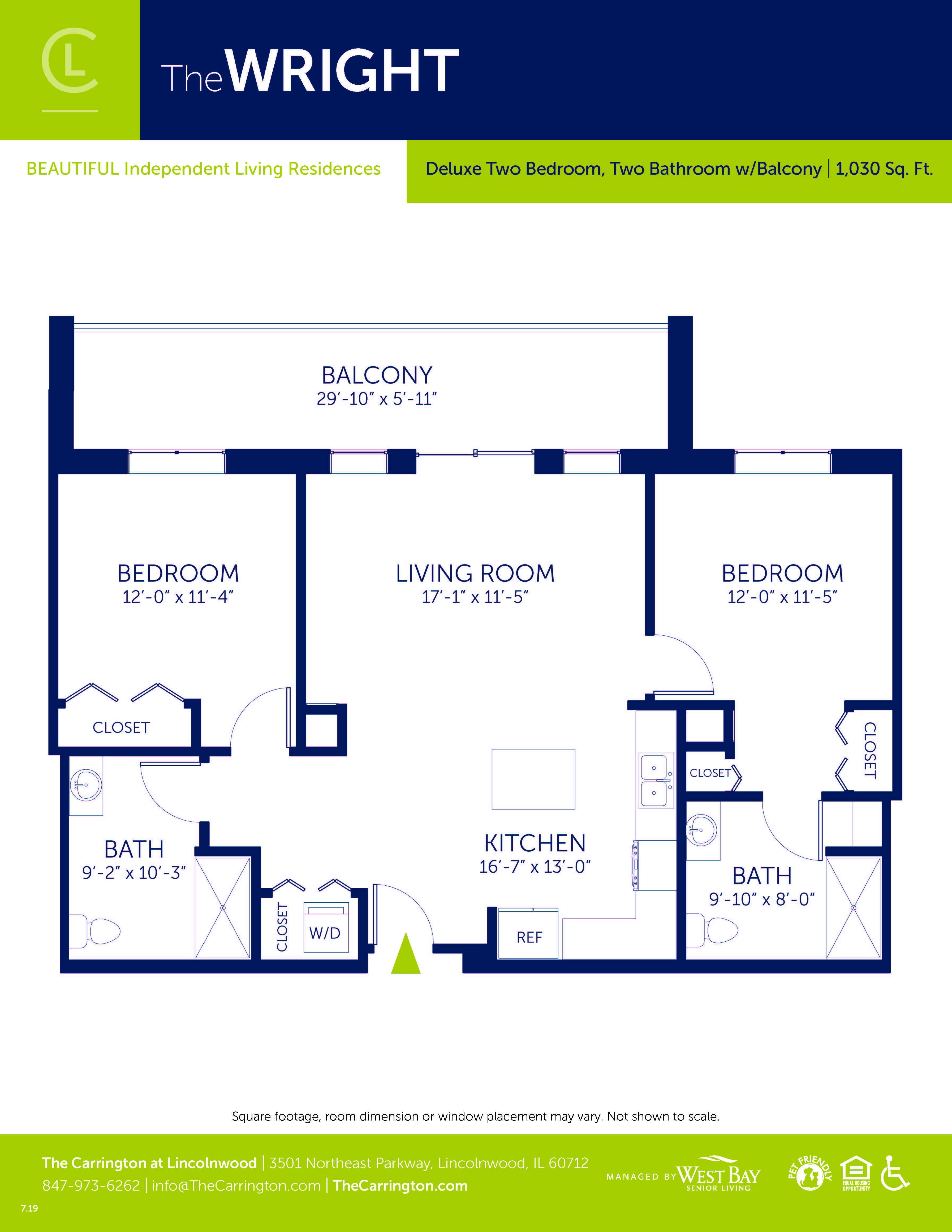 Wright - Deluxe Two Bedroom