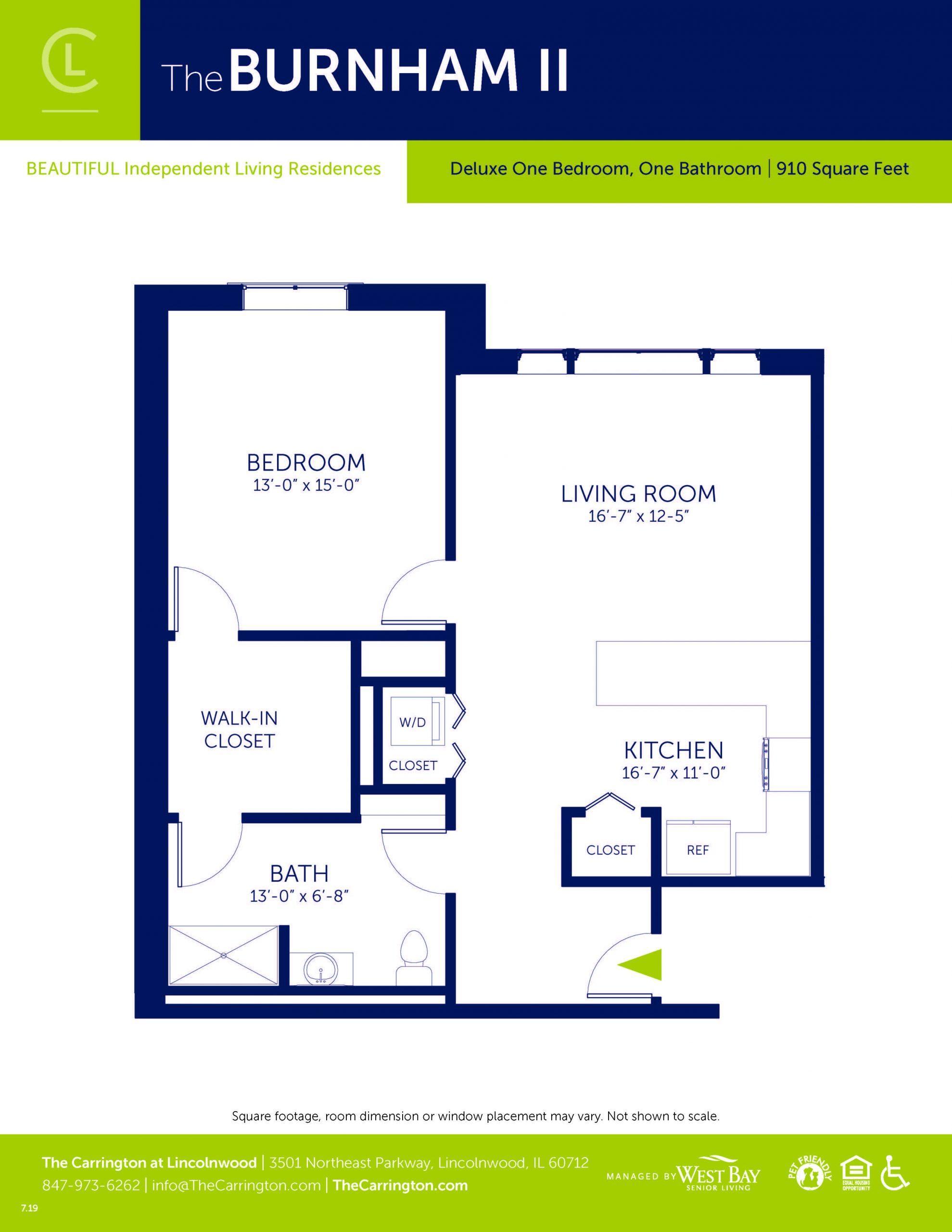 Burnham II - Deluxe One Bedroom